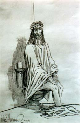 A Irracionalidade das Crenças! Jesus_cagando